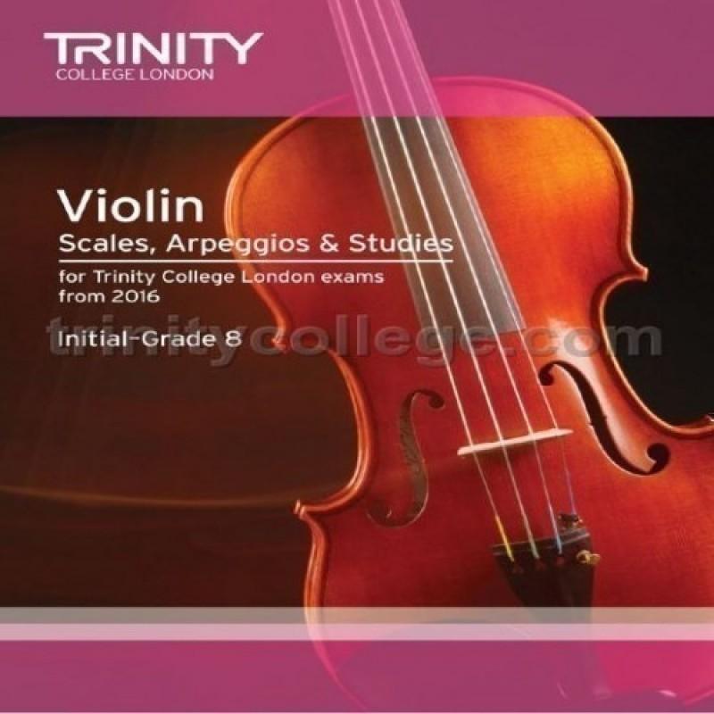 Violin Scales, Arpeggios & Studies Initial–Grade 8 from 2016 Trinity College London