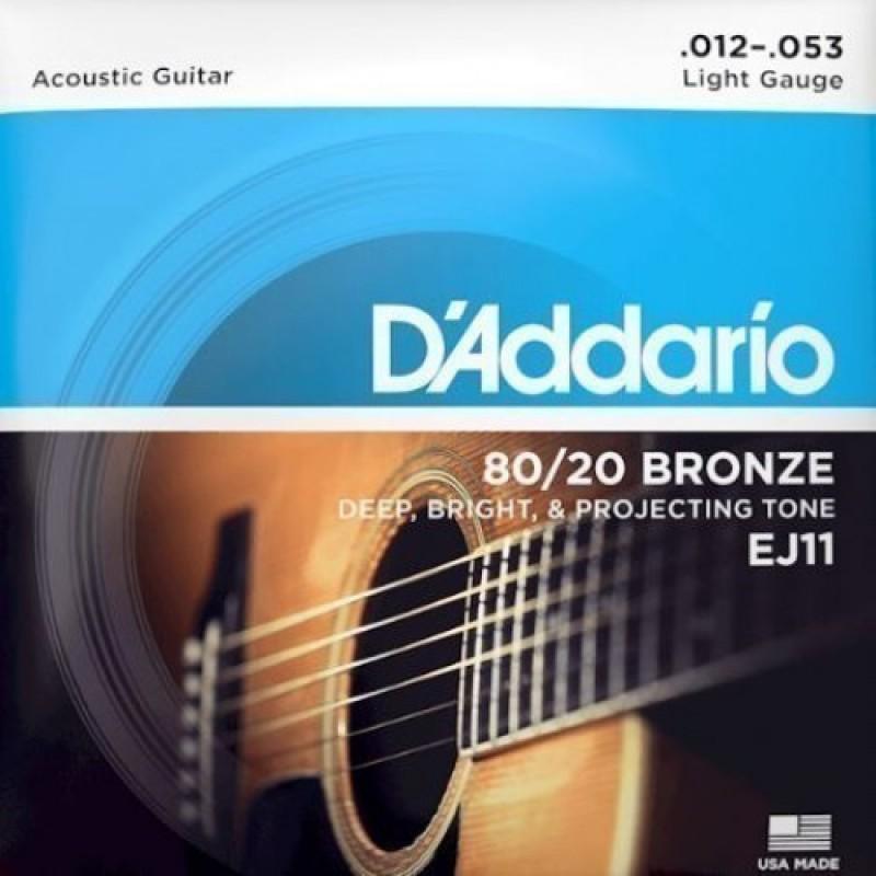 D'Addario EJ11 Acoustic guitar string set, Light 12-53