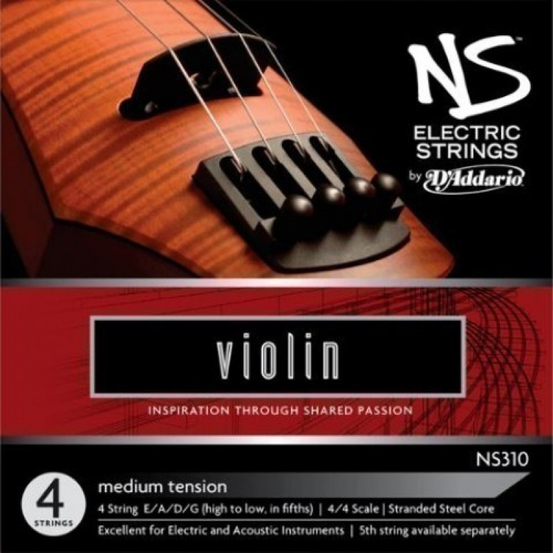 NS ELECTRIC VIOLIN STRING SET NS310  4/4 Scale, Medium Tension