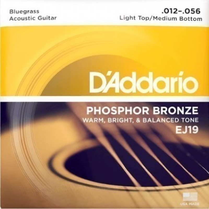 D'Addario EJ19 Acoustic Guitar String Set, Light Top Medium Bottom 12-56