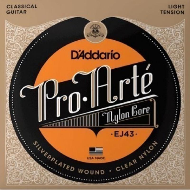 D'Addario EJ43 Classical Guitar String Set, Light Tension.