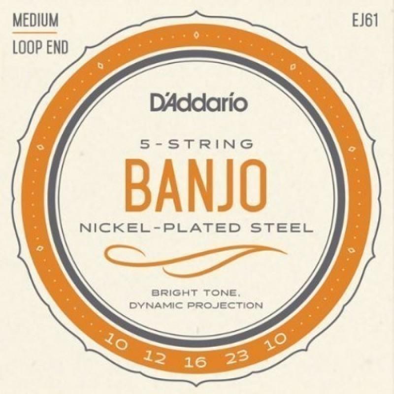 D'Addario EJ61 Banjo string set, Medium , 10-23