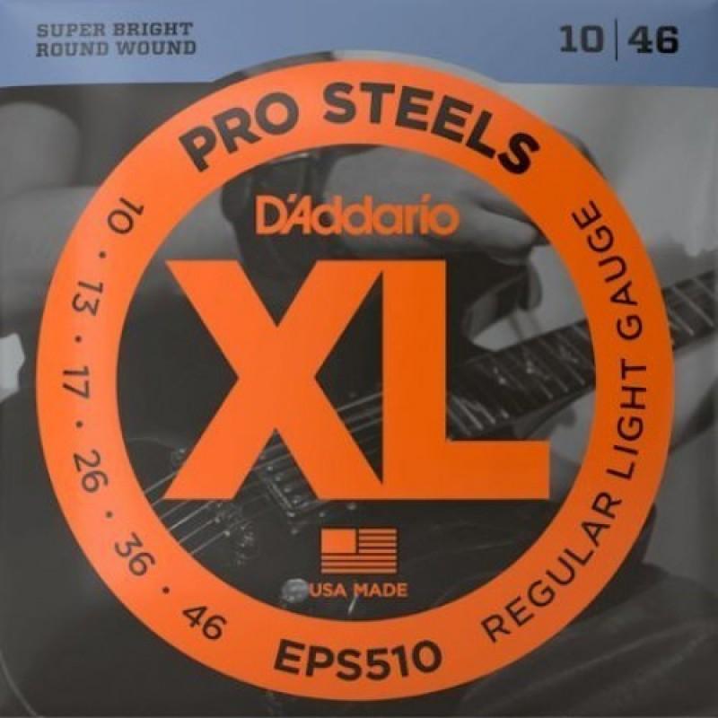 D'Addario EPS510 Electric Guitar String Set, Regular Light Gauge.
