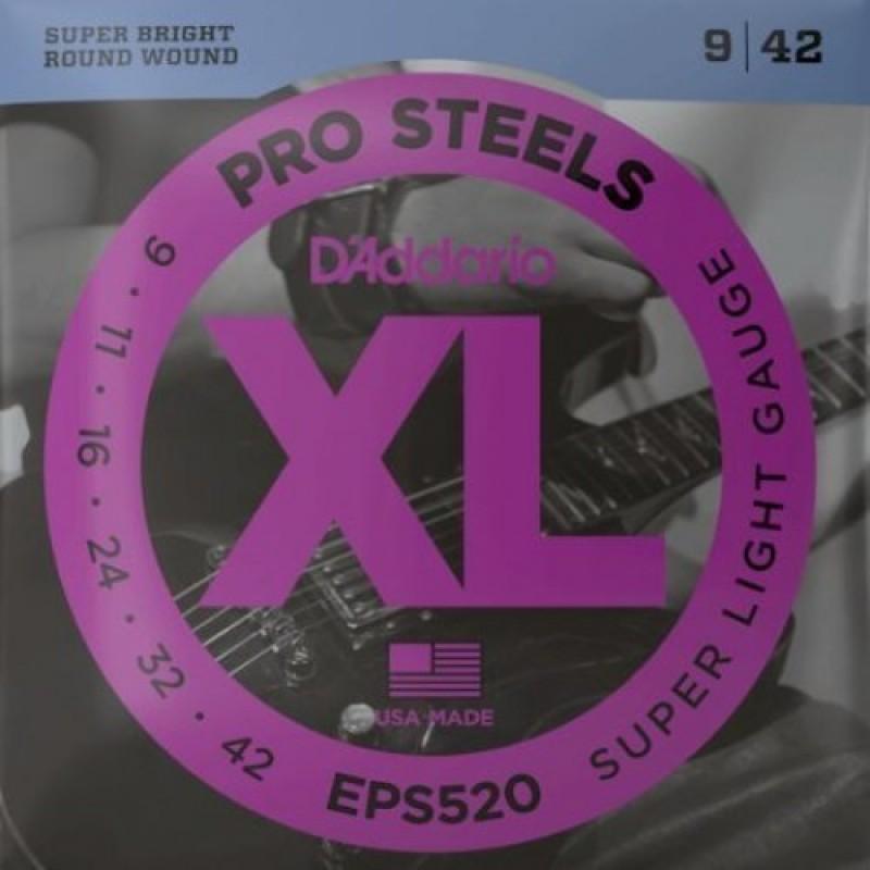 D'Addario EPS520 Electric Guitar String Set, Super Light Gauge.