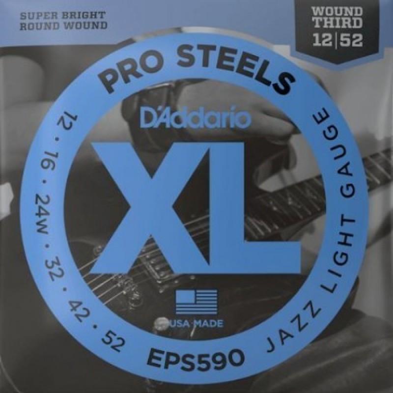 D'Addario EPS590 Electric Guitar String Set, Jazz Light Gauge.