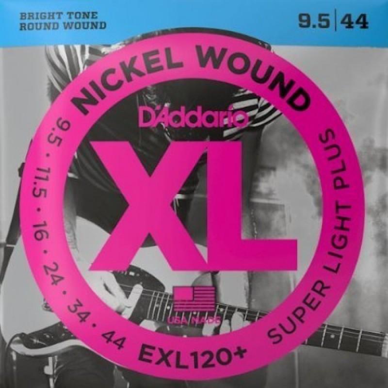 D'Addario EXL120+ Electric Guitar String Set, Super Light Plus Gauge.