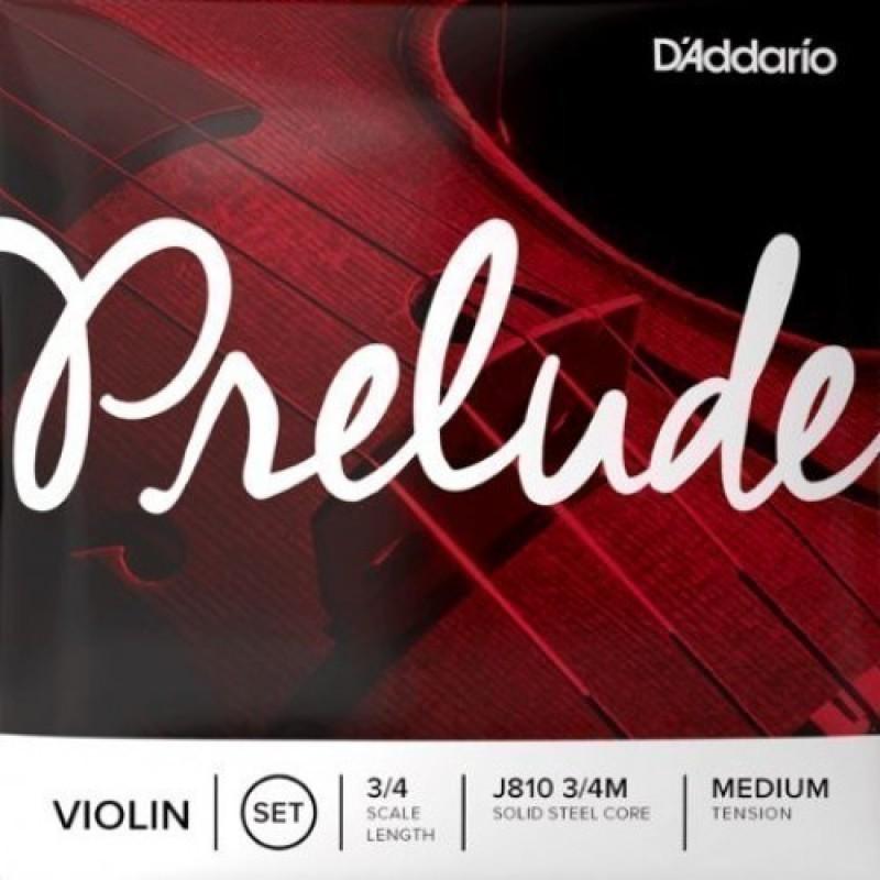 D'Addario J810 3/4M PRELUDE Violin String Set, Medium Tension