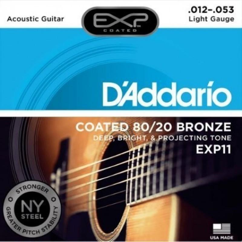 D'Addario EXP11 Acoustic Guitar String Set, Regular Light 12-53