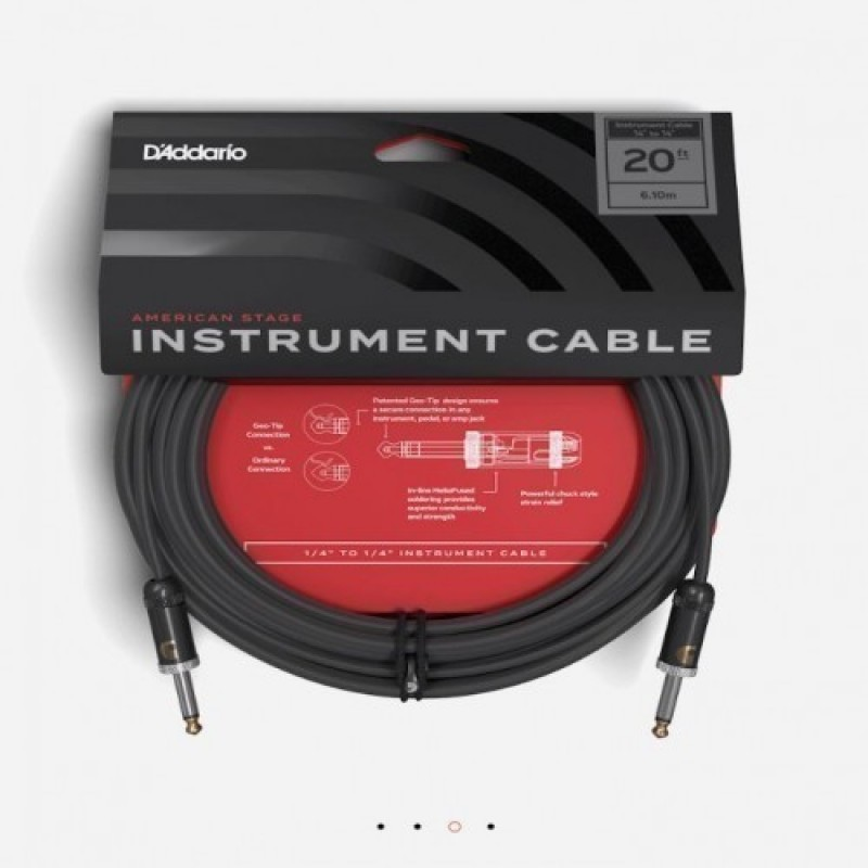 AMERICAN STAGE INSTRUMENT CABLE Straight to Straight, 20ft. PW-AMSG-20