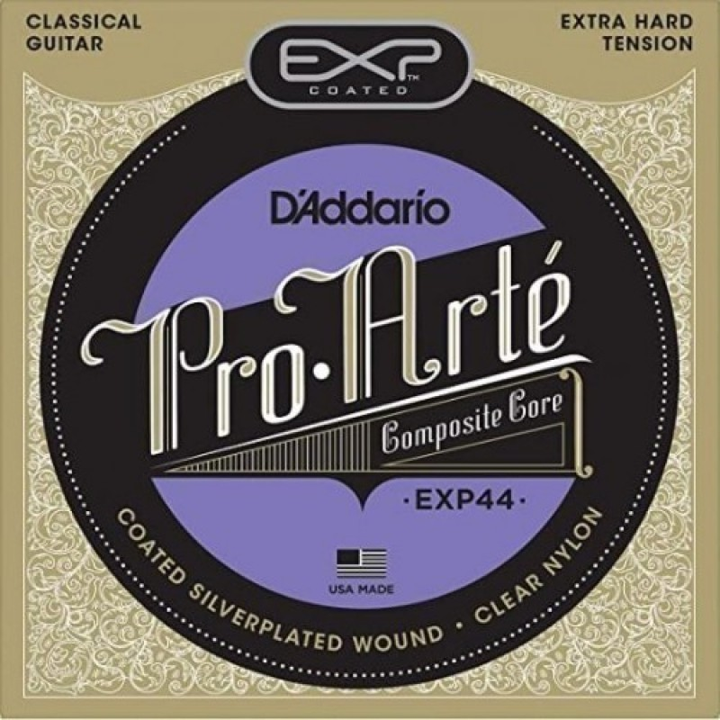 D'Addario EXP44 Classical Guitar Strings Coated Extra-Hard Tension