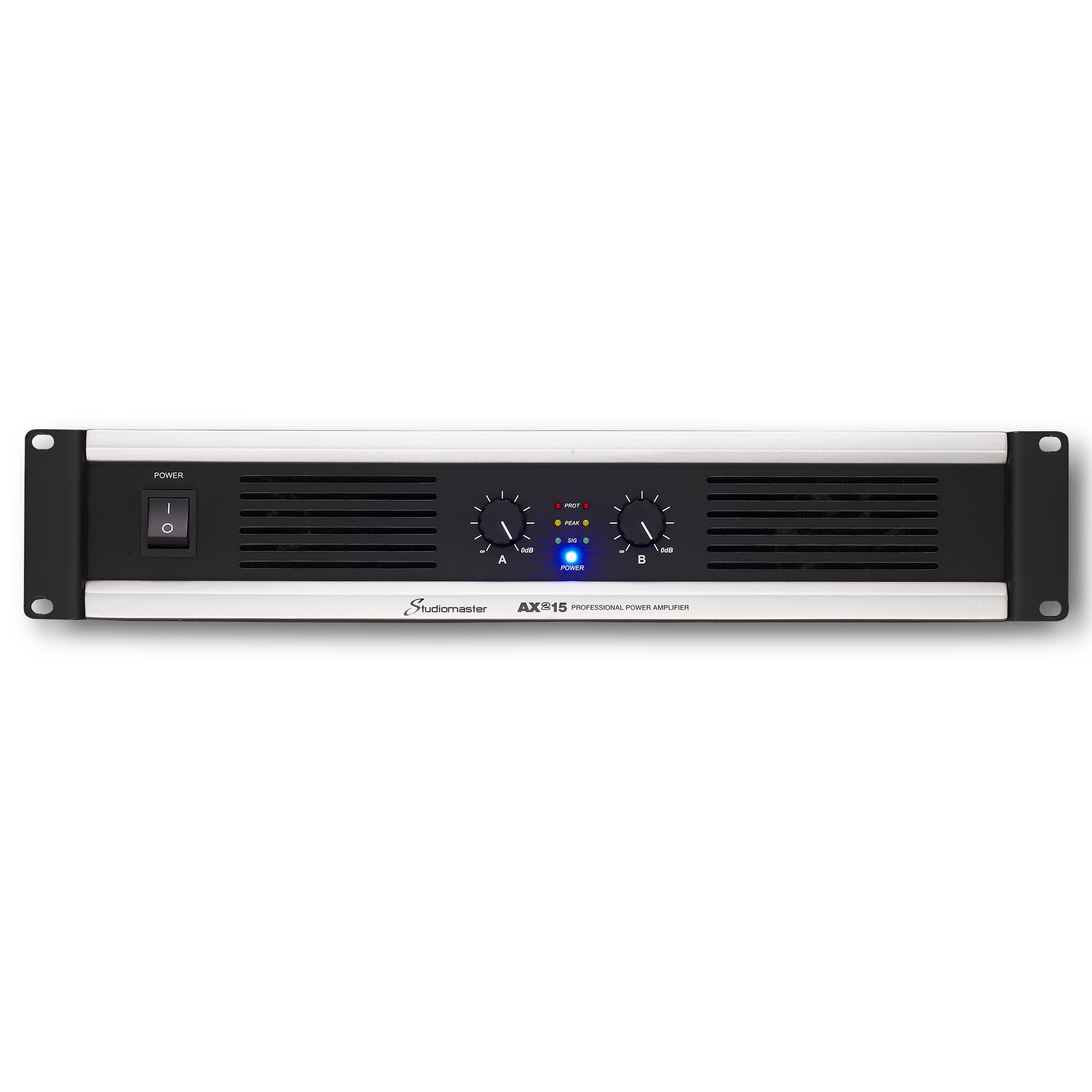 STUDIOMASTER AX215 2X450W/4 Ohm 2U Power Amplifier
