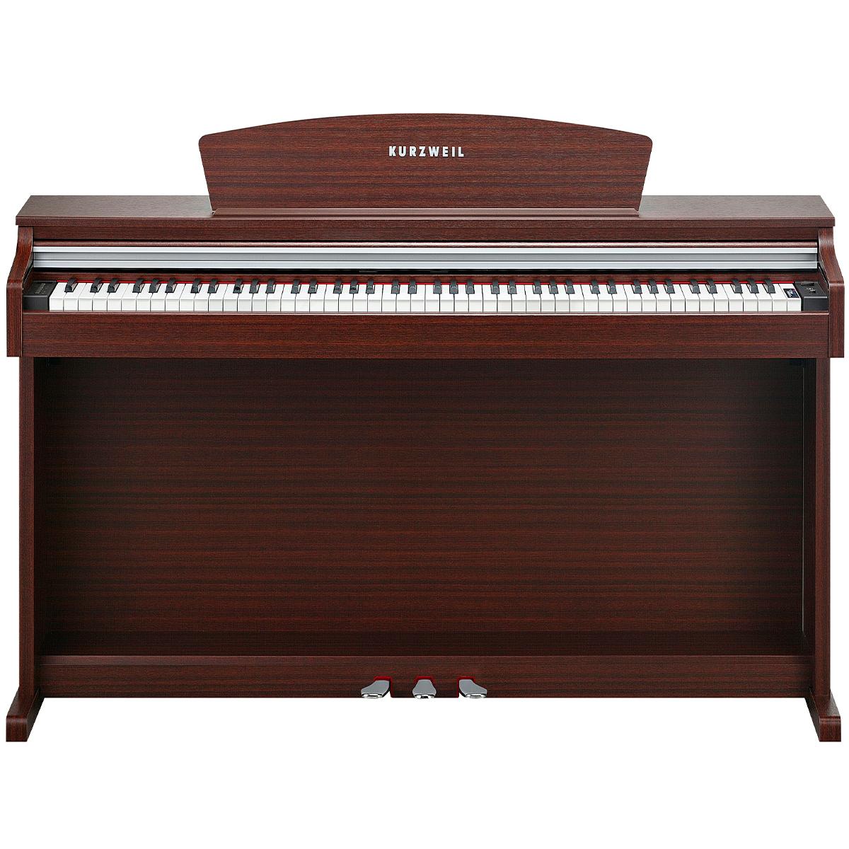 KURZWEIL M110SM: Fully-Weighted, 88 Note, Hammer-Action Digital Piano (Mahogany)