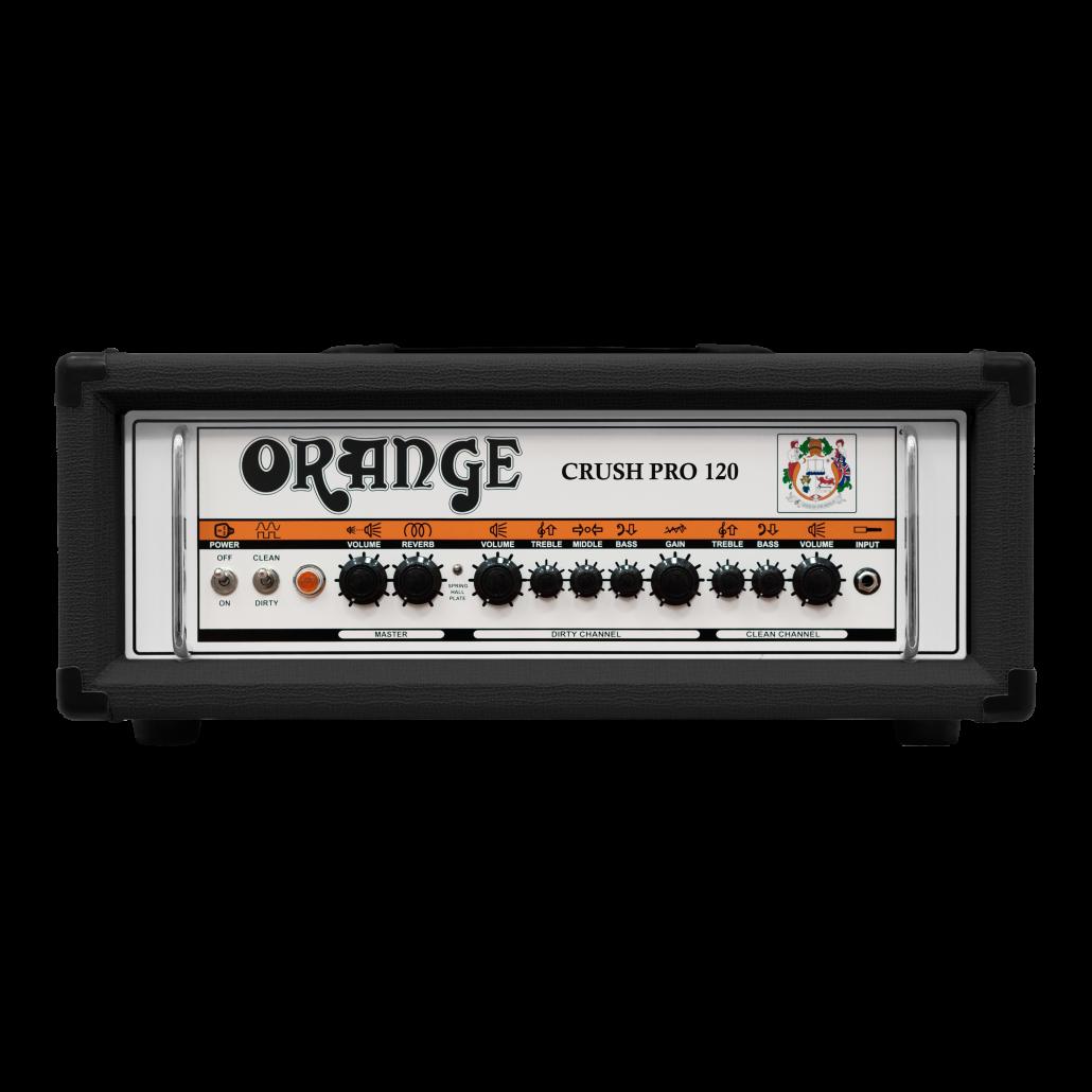 ORANGE CRUSH PRO CR120-H-BK: 120W Guitar Amp Head (BLACK)