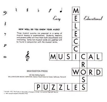 Musical Crossword Puzzles.