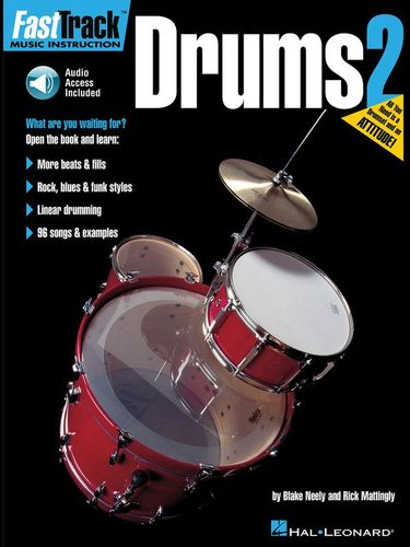 Fast Track : Drums - Book Two with CD