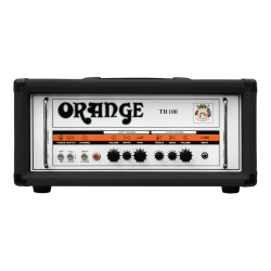 ORANGE TH100-H-BK: 100W Twin Channel Valve Guitar Amp Head (BLACK)