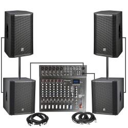 Studiomaster VENTUREPK 2100 Watts RMS Complete PA System Combo