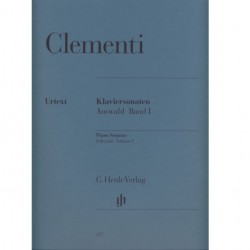 Clementi Selected Piano Sonatas Volume 1